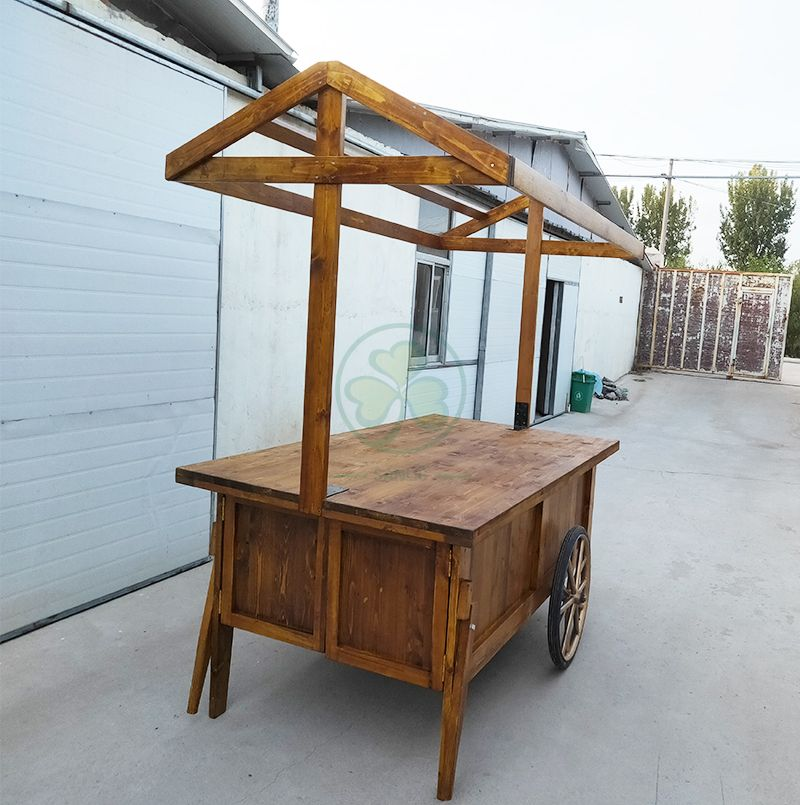 Bespoke Food Cart with Canopy and Storage Cabinet for Weddings and Events  SL-T2143BFCS