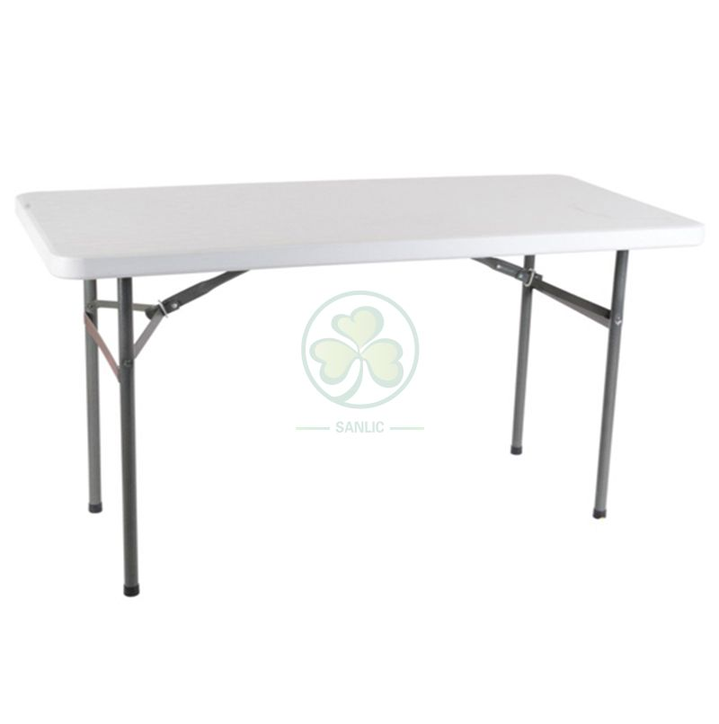 4ft Plastic Rectangular Folding Table for Indoor or Outdoor Social Events  SL-T2146PRFT