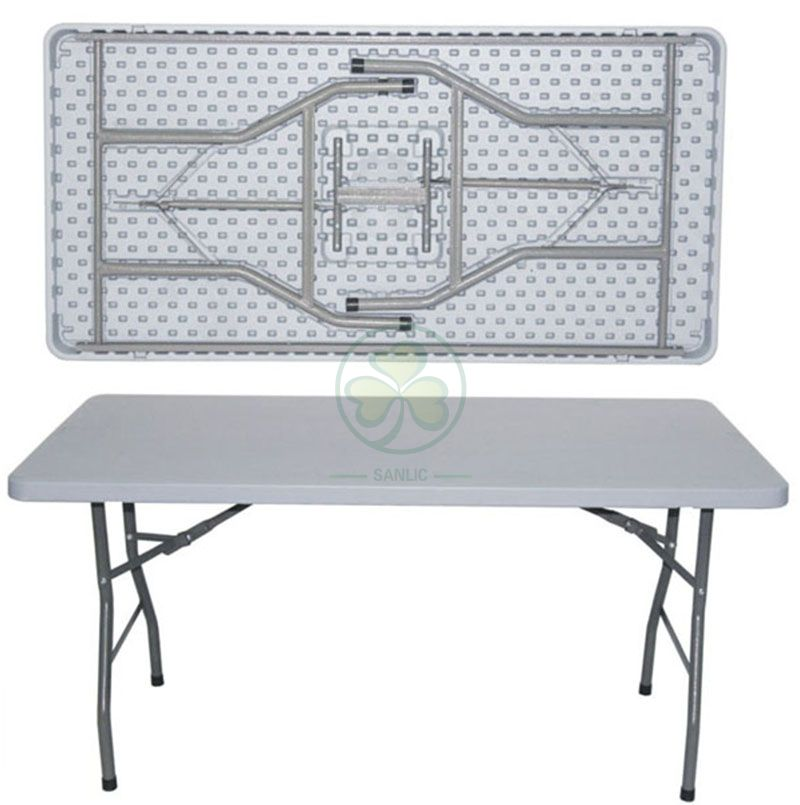 5ft Plastic Rectangular Folding Table for Catering Services and Hotels  SL-T2147PRFT