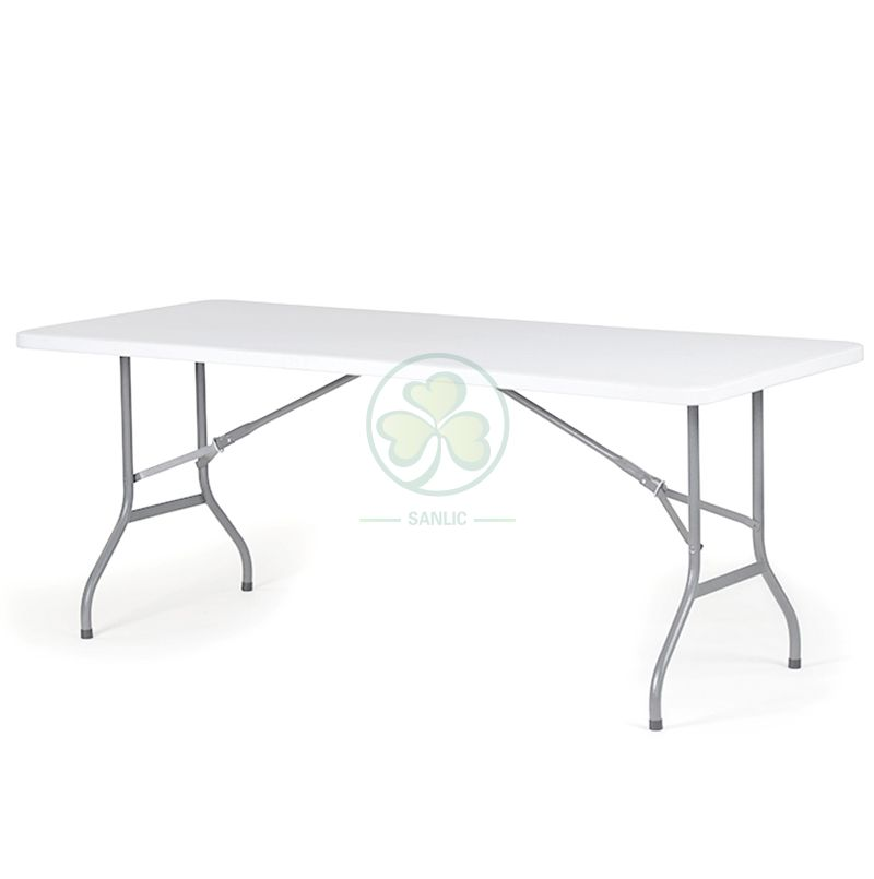 72inches HDPE Plastic Rectangular Folding Table for Indoor or Outdoor Various Different Social Banquets or Celebrations  SL-T2150HPFT