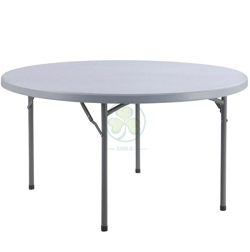Hot Selling 72inches Round Plastic Folding Dining Table for Dining Halls or Wedding Venues  SL-T2156PFDT