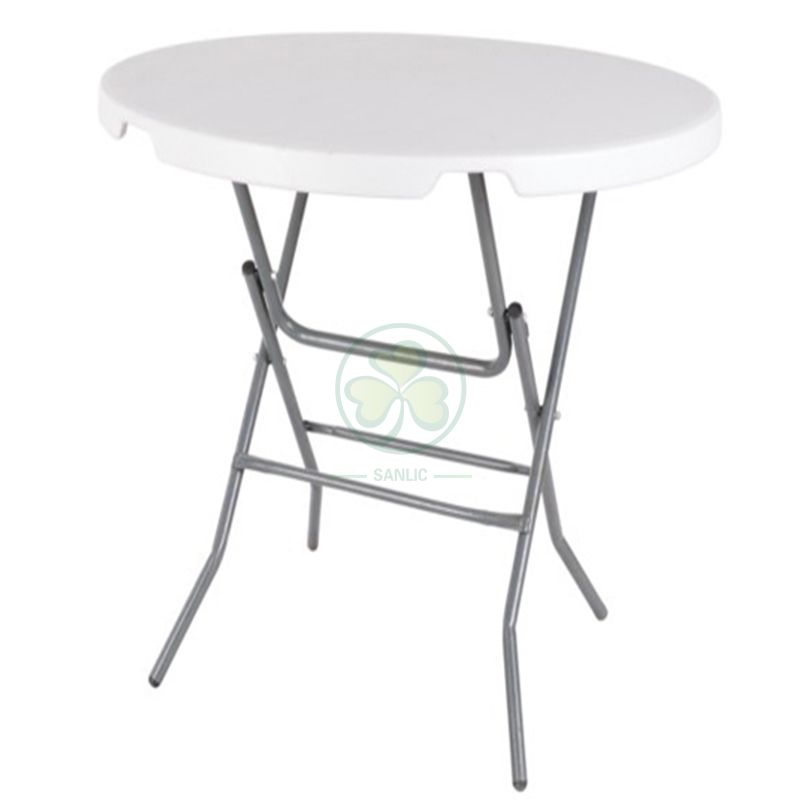 32inches Small Round Plastic Folding Dining Table for Living Room or Dining Room  SL-T2157SPFT