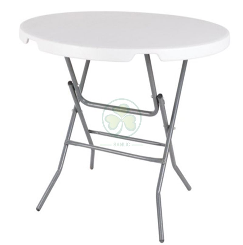 Hot Sale 37inches Portable Plastic Round Folding Banquet Table for Different Celebrations Occasions   SL-T2158PPFT