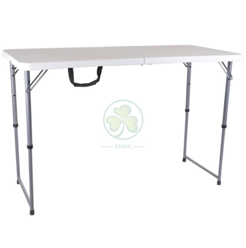 4ft Fold-In-Half Adjustable Height Table with Lock  SL-T2169FAHT