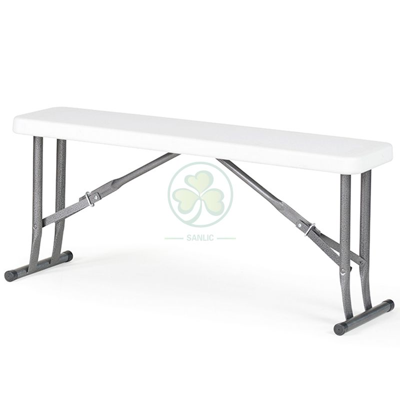 Wholesale 4ft Plastic Folding Bench for Weddings and Events SL-T2171WPFB