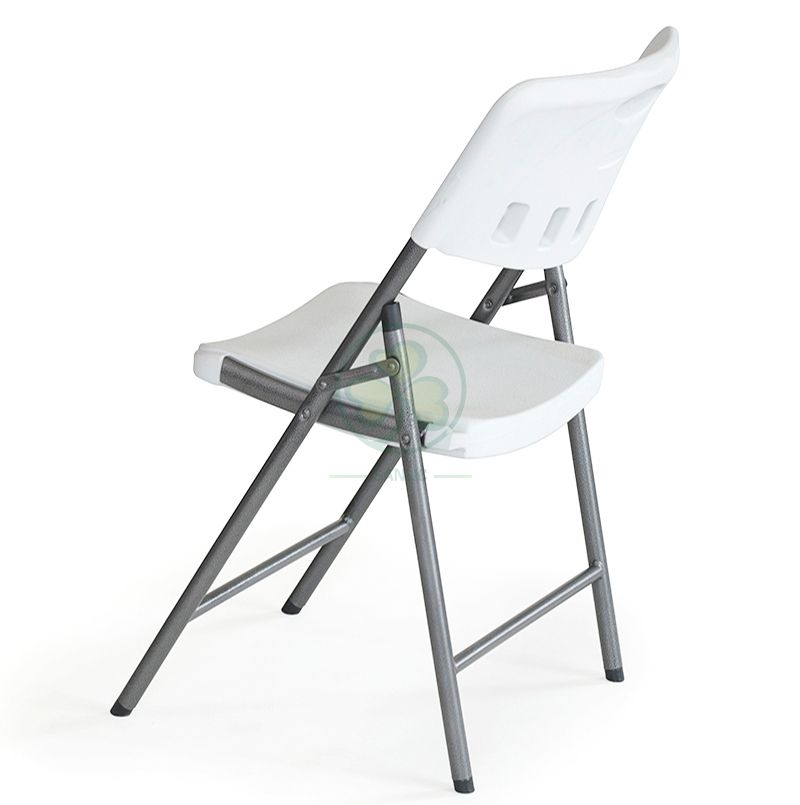 Factory Price Heavy-Duty Indoor or Outdoor Blow-Molded Plastic Folding Chair (TUBE DIA25 B) SL-T2176BMPC