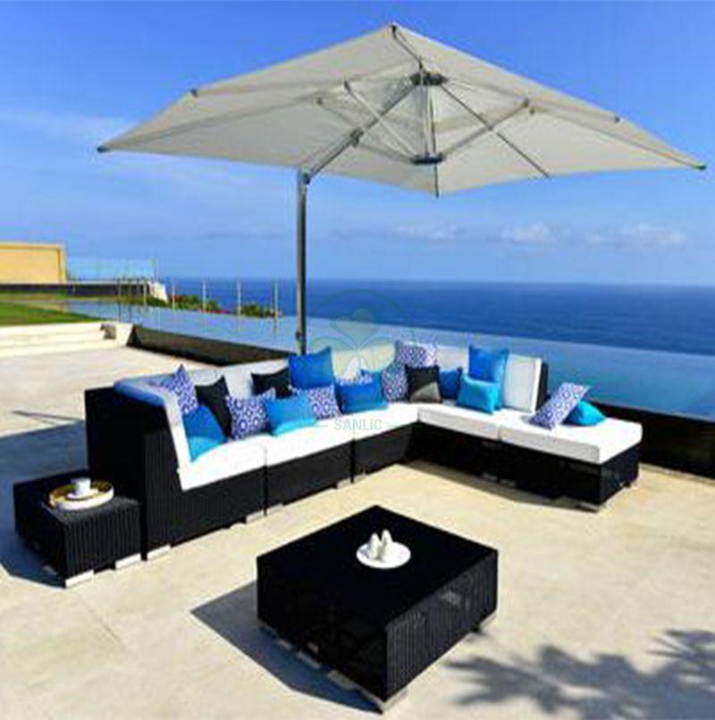 Hot Sale Outdoor Garden Furniture Wicker Rattan Corner Sofas Sets for Sale SL-WR2179WRGS