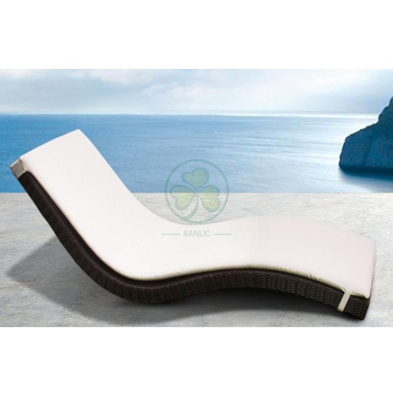 Wholesale All Weather Resistant Aluminum PE Rattan Armless Sun Lounger for Beach SL-WR2182APRL