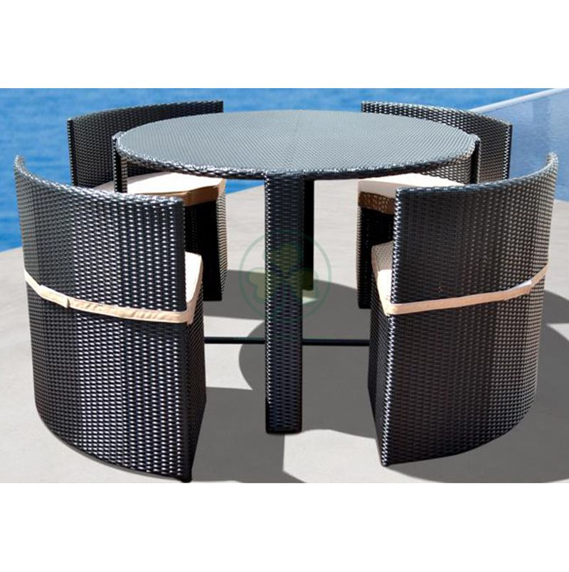 All Weather Outdoor Furniture Patio Dining Round Table and Chairs SL-WR2187OPDT