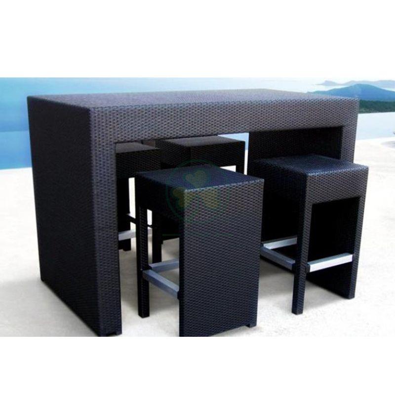 Popular Modern Simple Style Outdoor Wicker Bar Set SL-WR2189MSWB