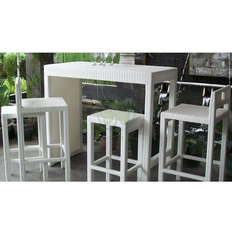 Modern Style Patio Bar Sets Rattan Furniture Outdoor Wicker Patio Bar Table and Stools SL-WR2190WPTC