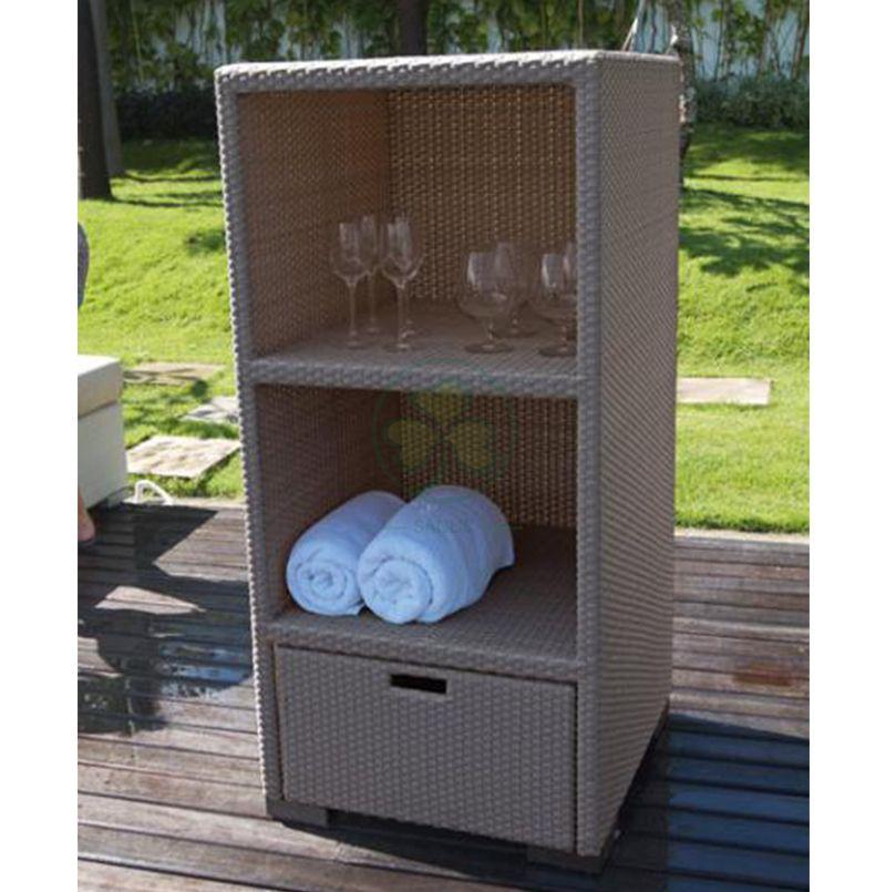 Popular Outdoor Plastic Rattan Warehouse Towel Storage Rack  SL-WR2195ORPR