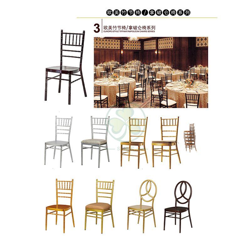 Classic Iron Steel Chiavari Chair Aluminium Napoleon Chair Metal Banquet Chairs for Various Social Events  SL-MC2198SABC