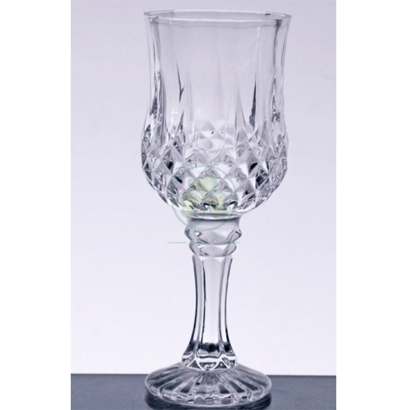 High Quality Diamond Wedding Glass Goblet Drinking Glassware Cups For Events SL-CD2206DWGG