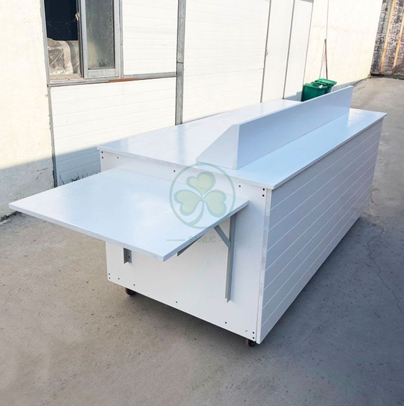 Wholesale Custom Wooden Coffee Carts with Casters for Various Occasions  SL-T2216CWCC