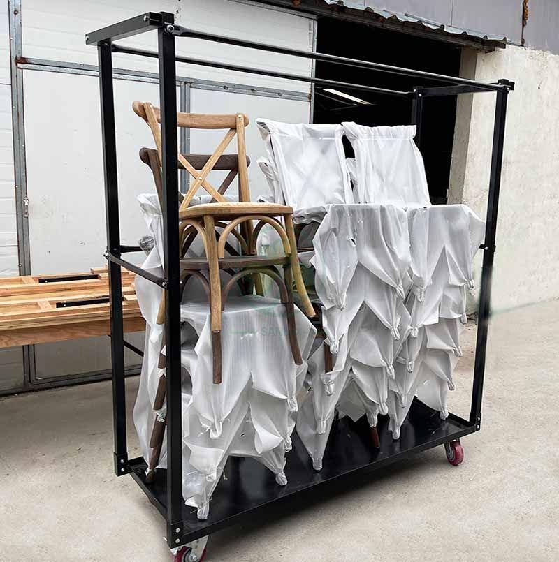 Custom Wholesale Steel Chair Trolley Chair Storage Cart SL-M2222CSCT