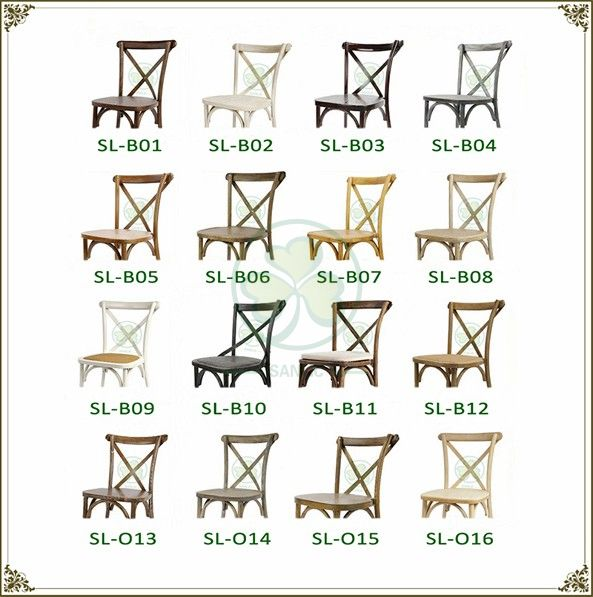 Hot Sale Antique Oak Cross Back Chairs