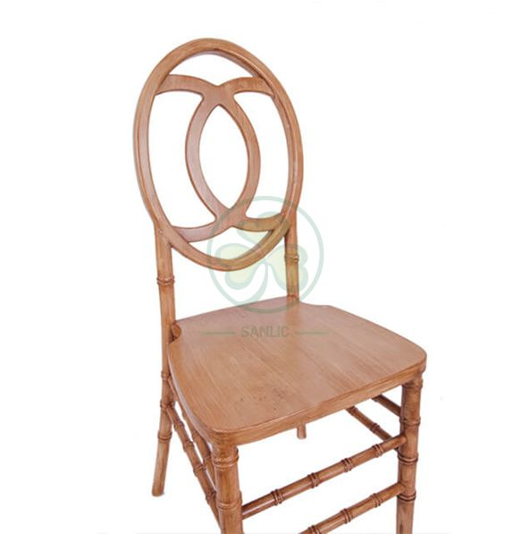 Customized Lightwood Wooden Phoenix Chair with Chanel CC-shaped back SL-W1843LWPC