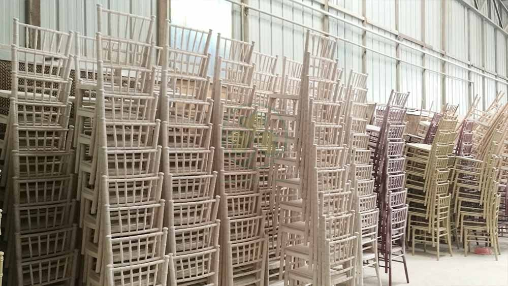 Bespoke High Quality Limewash Wooden Chiavari Chair for Event and Wedding Planner US Style SL-W1859BWCC
