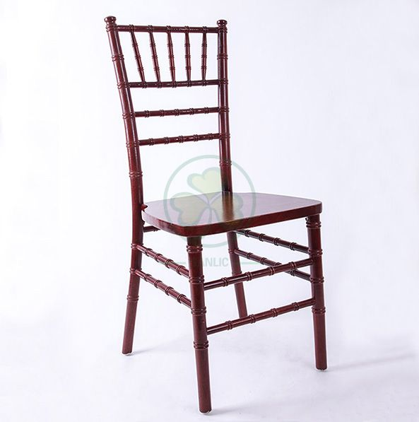 Factory Price US Style Mahogany Wooden Chiavari Chair for Indoor or Outdoor Wedding Banquets SL-W1860