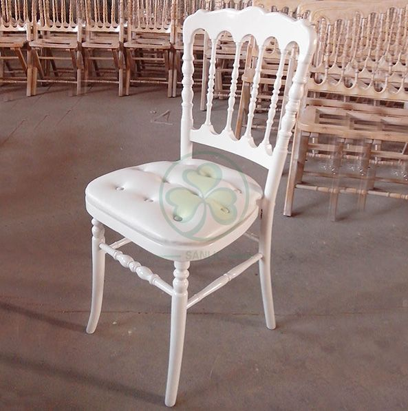 Most Popular Classic Wooden Napoleon Chair for Weddings and Banquets SL-W1904CWNC