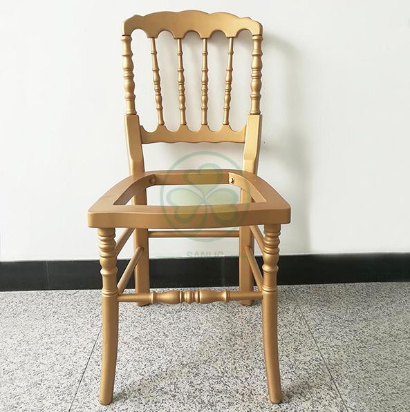 Deluxe Style Wooden Napoleon Dining Chair for Social Events and Outdoor or Indoor Parties and Banqets SL-W1907DWNC
