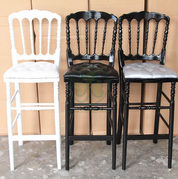 Popular Wooden Napoleon III Bar Stools for Various Events or Parties SL-W1917WNBS