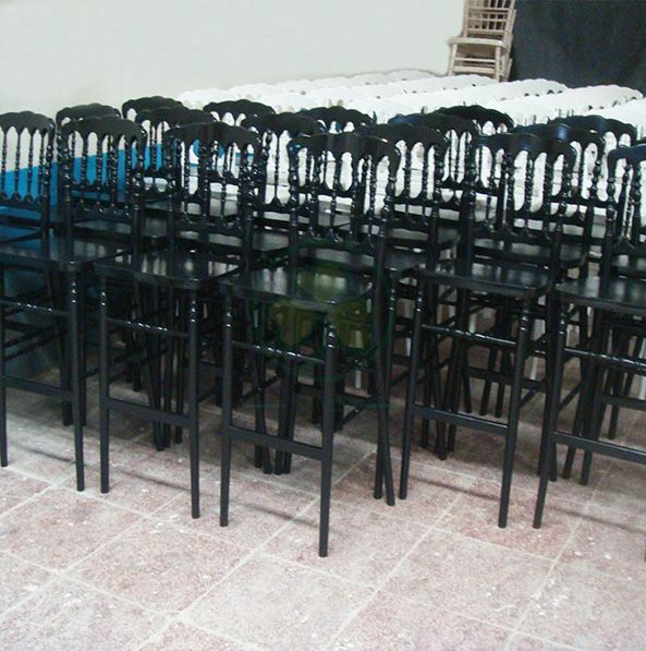 Wholesale Regular Wooden Napoleon Barstools for Indoor or Outdoor Events and Parties SL-W1919WNBS