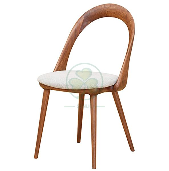 Wholesale Resturant Coffee Shop Wooden Dining Chair Armless Wooden Rest Chair for Cafe and Resturant SL-W1928CWDC