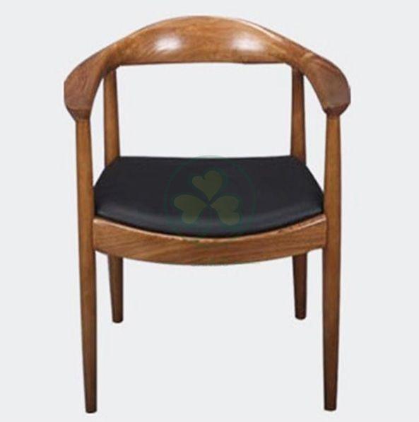Solid Wood Frame Hans Wegner Kennedy Arm Chair with Leather Seat SL-W1941WKRC