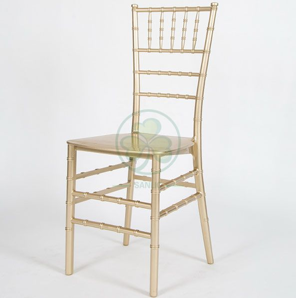 Factory Wholesale Gold Resin Monoblock Chiavari Chair for Hotels Banquets and Wedding Rentals SL-R1978GRMC