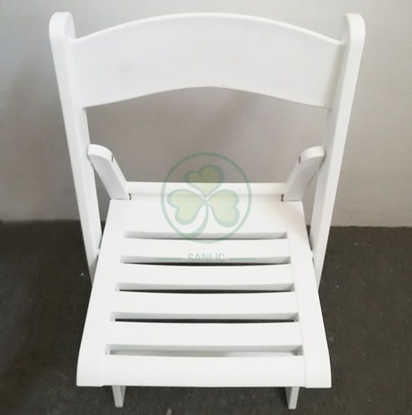 Popular Resin Folding Chair with Slatted Seat for Various Events and Parties SL-R2002RRFC