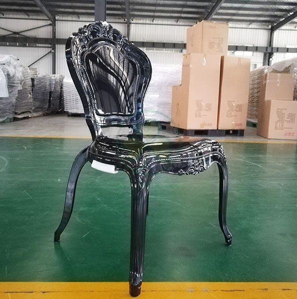 Wedding Furniture PC Resin Bella Chair for Wedding Events or Castle Banquets in Black SL-R2029BRBC