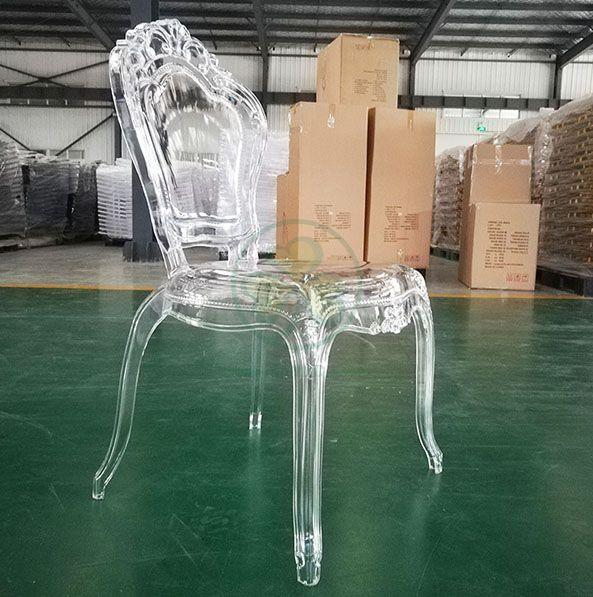 Wholesale European Resin Wedding Princess Bella Epoque Chair SL-R2032SMBC