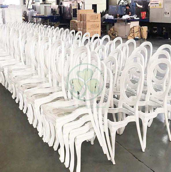 Wholesale Luxury PC Resin Louis Chair with Vinyl Seat and Back for Dining Halls or Hotels Banquets  SL-R2035WRLC