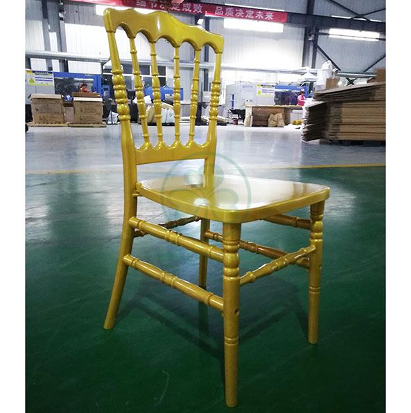 Strong and Durable Clear Resin Napoleon Chair for Events and Weddings SL-R2051CRNC