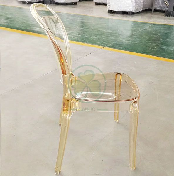 New Design Stackable Resin Lucent Chair for Dining Room or Living Room SL-R2057CRLC