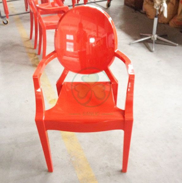 High Quality Resin Louis Ghost Armchair for Parties Weddings or Events SL-R2070SRLC