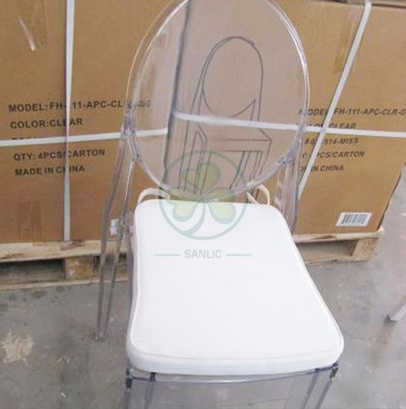 Wholesale Clear Resin Victoria Ghost Armless Chair for Indoor or Outdoor Parties or Weddings  SL-R2063CRGC