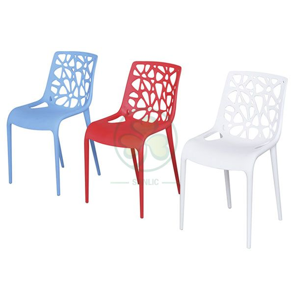 Modern Geometric Hollow Back Resin Leisure Chair for Resturant or Dining Rooms SL-R2077MHLC