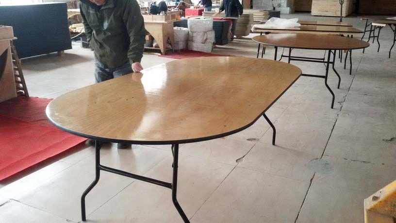 Bespoke Wood Oval Folding Dining Table for Hospitalitiy or Catering Services  SL-T2091WOFT