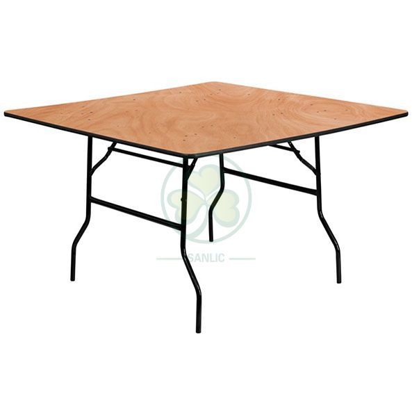 Factory Wholesale Plywood Square Folding Dining Table for Different Social Events SL-T2098WSFT