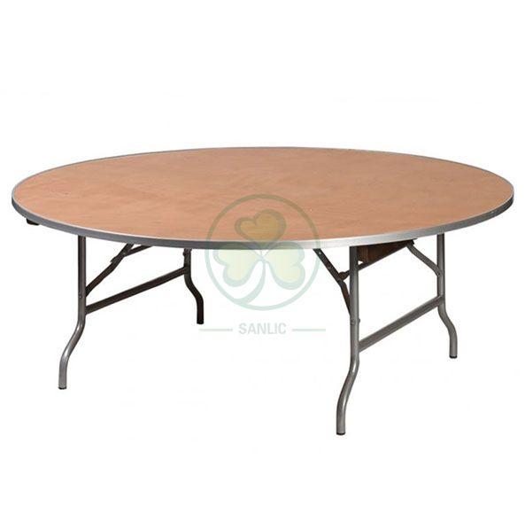 Bespoke Wood Rectangular Kids Folding Table for Kids Parties SL-T2099WKFT