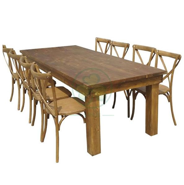 Hot Selling French Country Style Farmhouse Dining Table for Various Events and Weddings SL-T2103FFDT