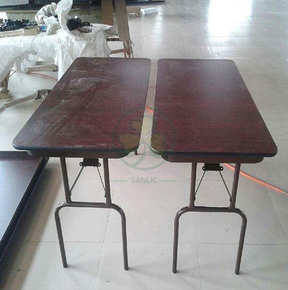 Factory Direct 24''x48'' Melamine Laminate Rectangular Folding Table SL-T2136MLFT
