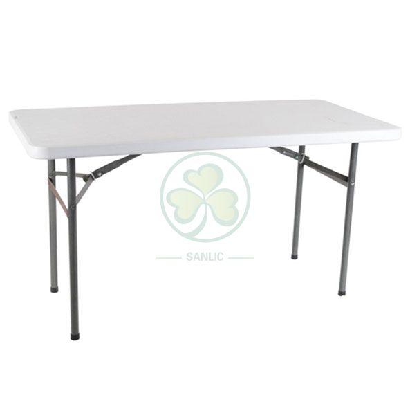 4ft Plastic Rectangular Folding Table SL-T2146PRFT