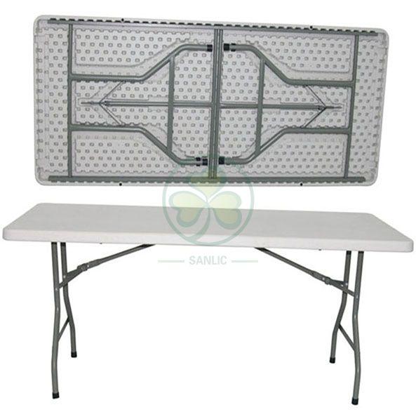 6ft Rectangular Plastic Folding Banquet Table for Various Social Events SL-T2149PRFT
