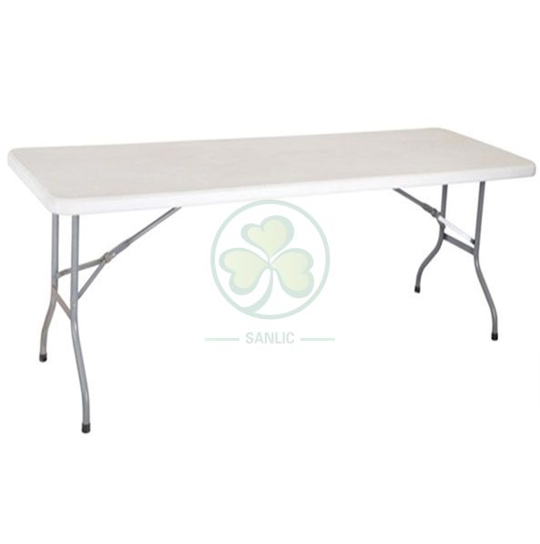 8ft HDPE Plastic Rectangular Foldable Banquet Table for Resturant and Hotels  SL-T2151HPFT