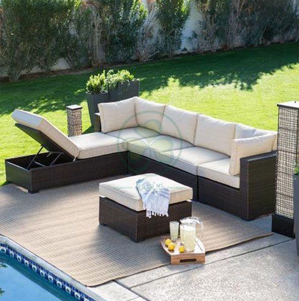 Outdoor Furniture Garden Sofa Outdoor Sofa Wicker Garden Furniture Rattan Sofa Set  SL-WR2178OFRS