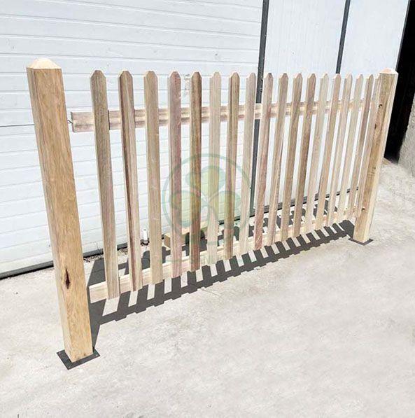 Custom Wood Picket Fence Garden Wedding Decor Fence Event Fencing for Wedding Venue or Lawn and Garden SL-T2220CWPF